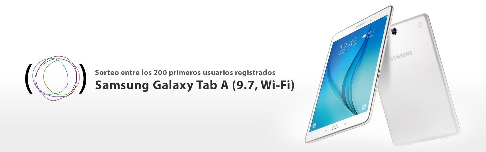 Regístrate y gana una tablet Samsung Galaxy Tab A